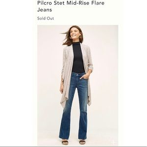 Anthro Pilcro & The Letter Press Flare STET Jeans
